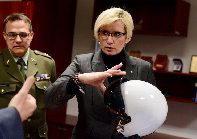Bývalá česká ministryně obrany Karla Šlechtová