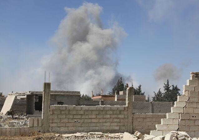 Kouř v syrské Dúmě