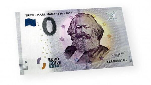 Němci vydali bankovku s hodnotou 0 eur s portrétem Karla Marxe - Sputnik Česká republika