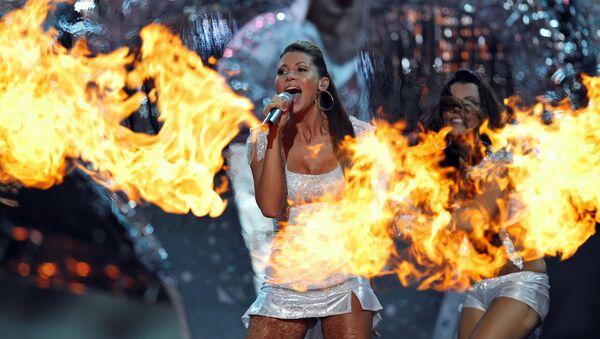 Tereza Kerndlová během vystoupení na Eurovision 2008 v Bělehradu - Sputnik Česká republika