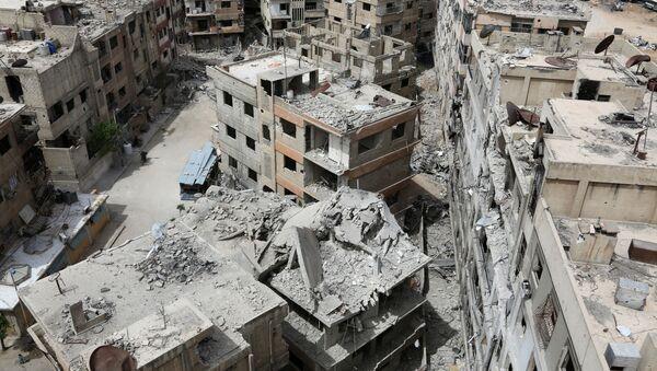 Zříceniny v Dúmě, Sýrie - Sputnik Česká republika