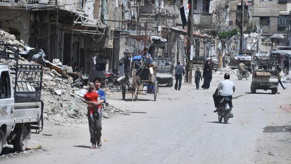 Předměstí Damašku Dúma - Sputnik Česká republika
