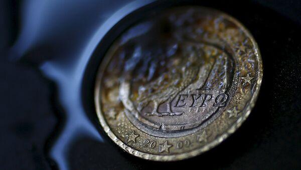 Řecká euromince - Sputnik Česká republika