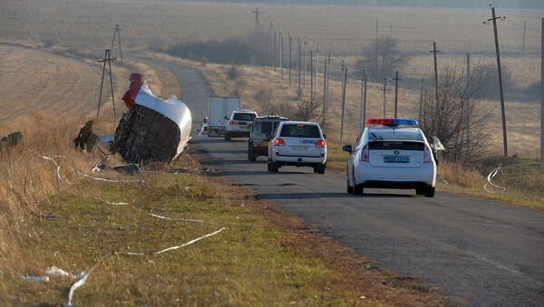 Vozy OBSE na místě havárie Boeingu 777 - Sputnik Česká republika