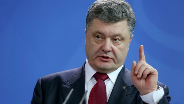 Ukrajinský prezident Petro Porošenko - Sputnik Česká republika