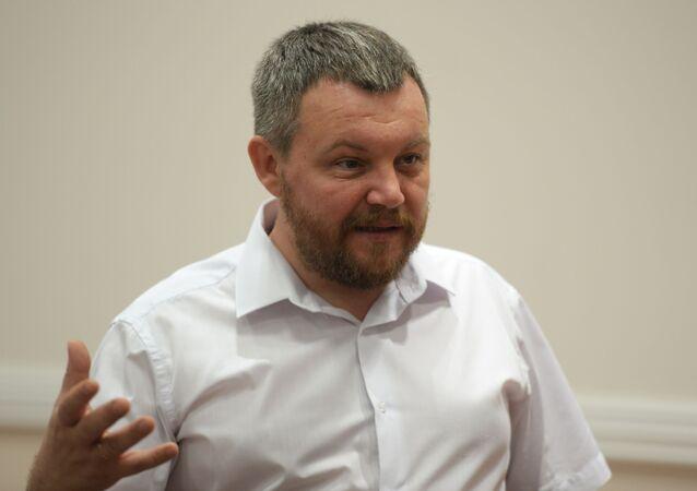 Předseda Lidové rady Doněcké lidové republiky Andrej Purgin