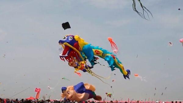 Pohádka ve skutečnosti. Jak probíhá festival draků v čínském Wej-fangu - Sputnik Česká republika