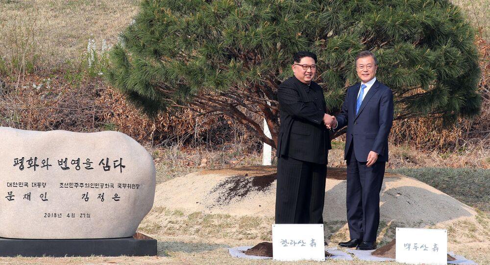 Lídři Severní a Jižní Korei