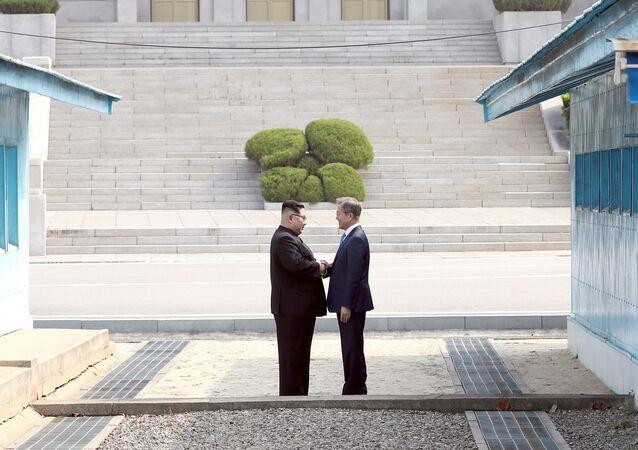 Lídři Severní a Jižní Koreje