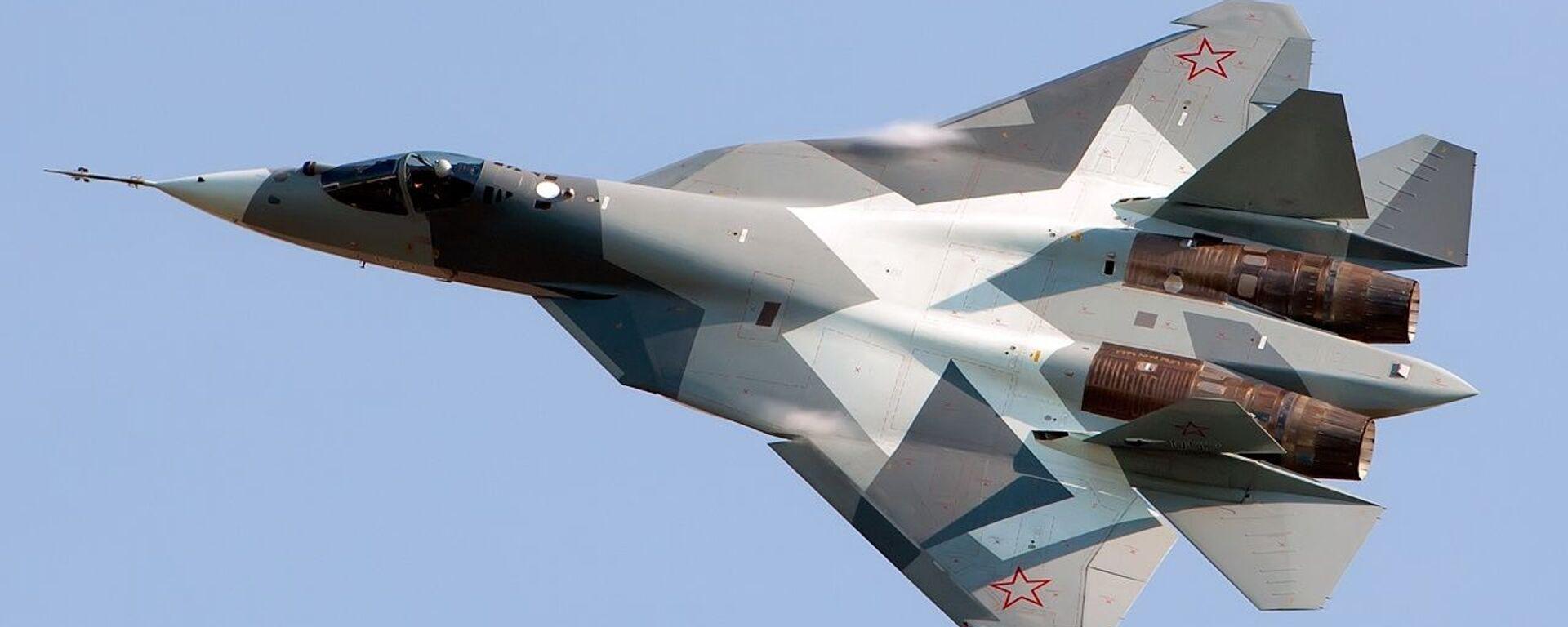 Ruský stíhací letoun Su-57 - Sputnik Česká republika, 1920, 11.04.2021