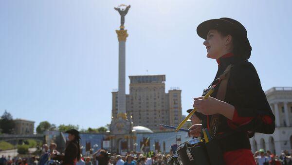 Prvomájská demonstrace v Kyjevě - Sputnik Česká republika
