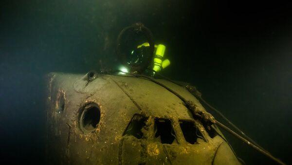 """Sovětská ponorka Šč- 317, kterou objevili na dně Finského zálivu účastníci pátrací operace """"Poklona lodím velkého vítězství"""" - Sputnik Česká republika"""