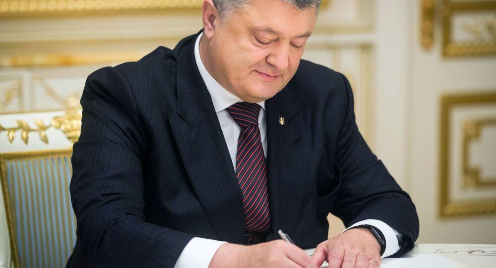 Prezident Ukrajiny Petro Porošenko