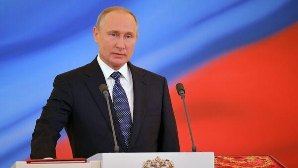 Vladimir Putin během inaugurace 7. května 2018. - Sputnik Česká republika