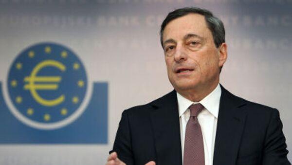 Guvernér Evropské centrální banky Mario Draghi - Sputnik Česká republika