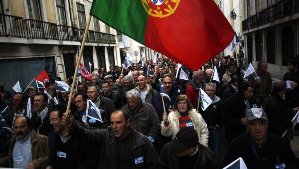 Protestní akce v Portugalsku - Sputnik Česká republika