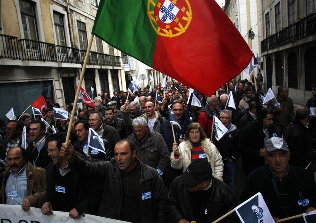 Protestní akce v Portugalsku