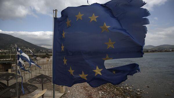 Vlajka EU v Řecku - Sputnik Česká republika