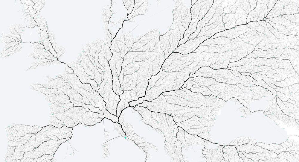 Mapa cest do Říma.