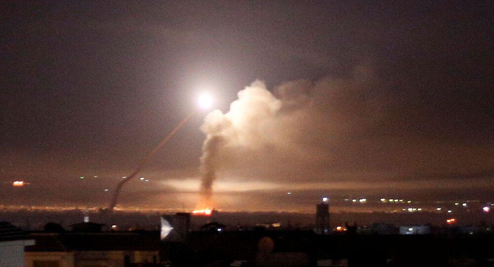 Pohled na raketový útok z Damašku