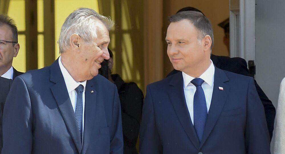 Český prezident Miloš Zeman a polský prezident Andrzej Duda