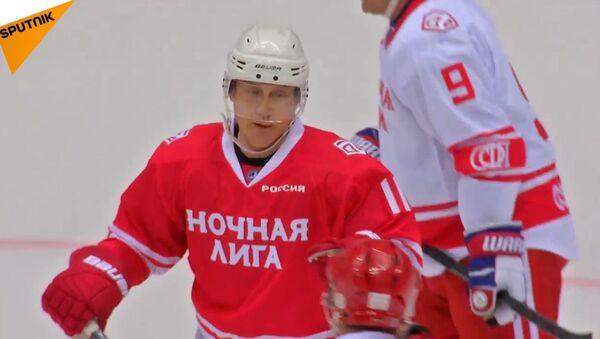 Putin hokej - Sputnik Česká republika