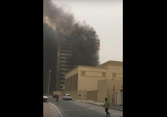 Požár zničil mrakodrap Zen Tower v Dubaji