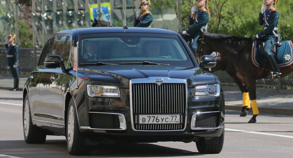 Putinova limuzína Kortež