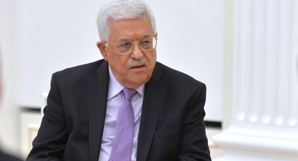 Hlava Palestinské autonomie Mahmúd Abbás