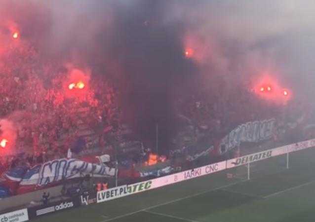 Fanoušci polské Wisly