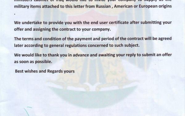 Iraq arms request (page 1 of 2) - Sputnik Česká republika