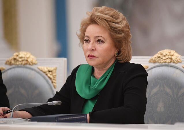 Předsedkyně Rady federace Valentina Matvijenková