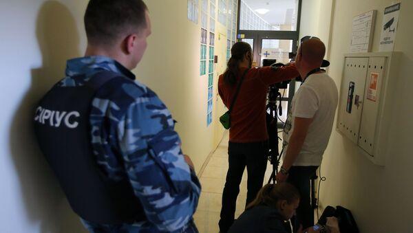 Kancelář RIA Novosti Ukrajina, kde SBU vykonává prohlídku - Sputnik Česká republika