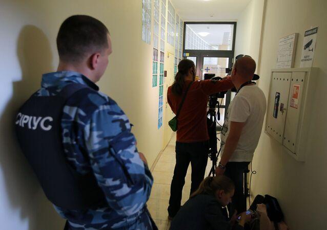 Kancelář RIA Novosti Ukrajina, kde SBU vykonává prohlídku