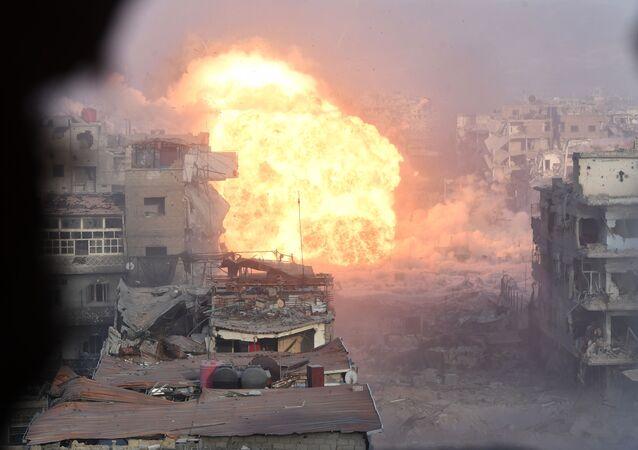 Útok syrské armády na ozbrojence v Damašku