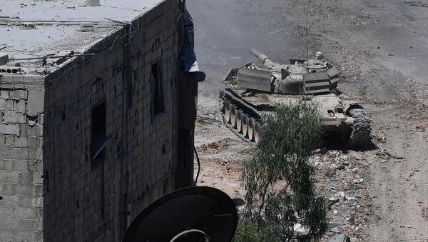 Syrské tanky u Damašku. Ilustrační foto - Sputnik Česká republika