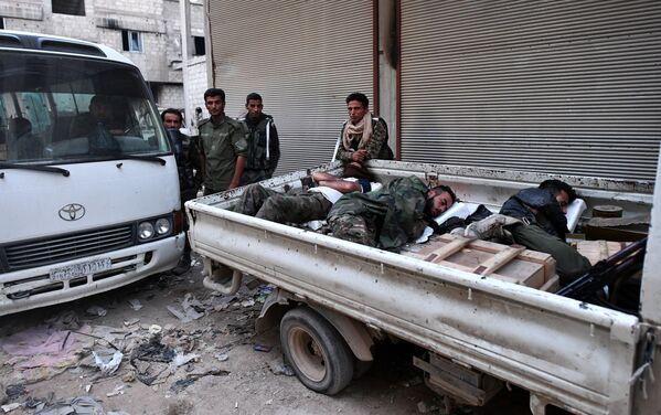 Útok syrské armády na ozbrojence v Damašku - Sputnik Česká republika