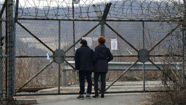 Hranice mezi Severní a Jižní Koreou - Sputnik Česká republika