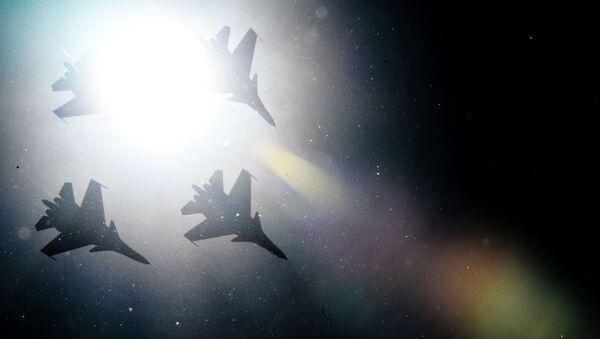 Stíhačky Su-30SM v Moskevské oblasti - Sputnik Česká republika