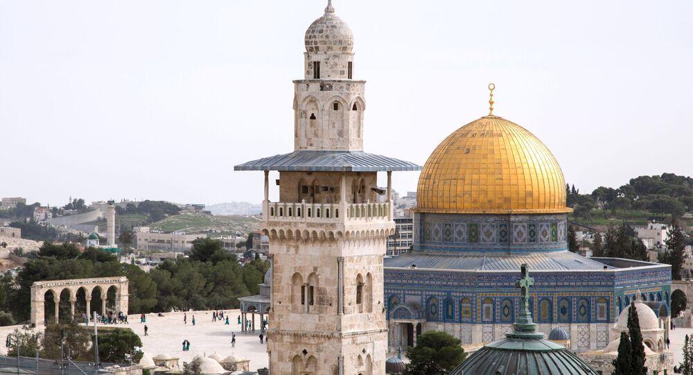Pohled na Skalní dóm v Jeruzalémě
