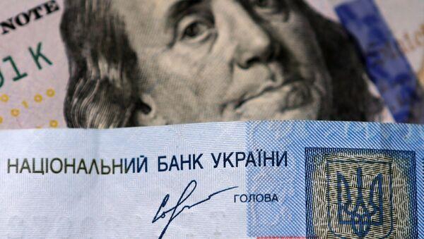 Ukrajinská hřivna a americký dolar - Sputnik Česká republika