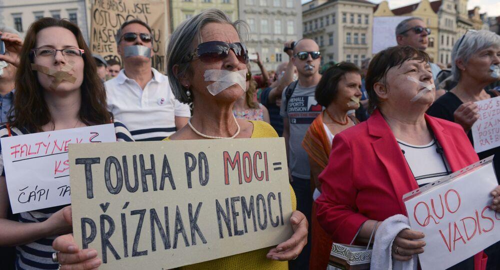 Protesty proti Andreji Babišovi