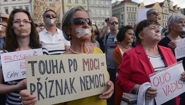 Protesty proti Andreji Babišovi - Sputnik Česká republika