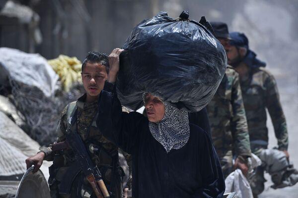 Tábor Jarmúk na jihu Damašku osvobozený od ozbrojenců - Sputnik Česká republika