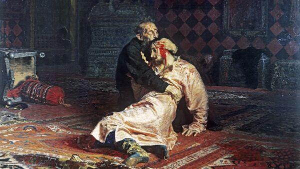 Obraz ruského malíře Ilji Repina Ivan Hrozný a jeho syn Ivan 16. listopadu 1581 - Sputnik Česká republika