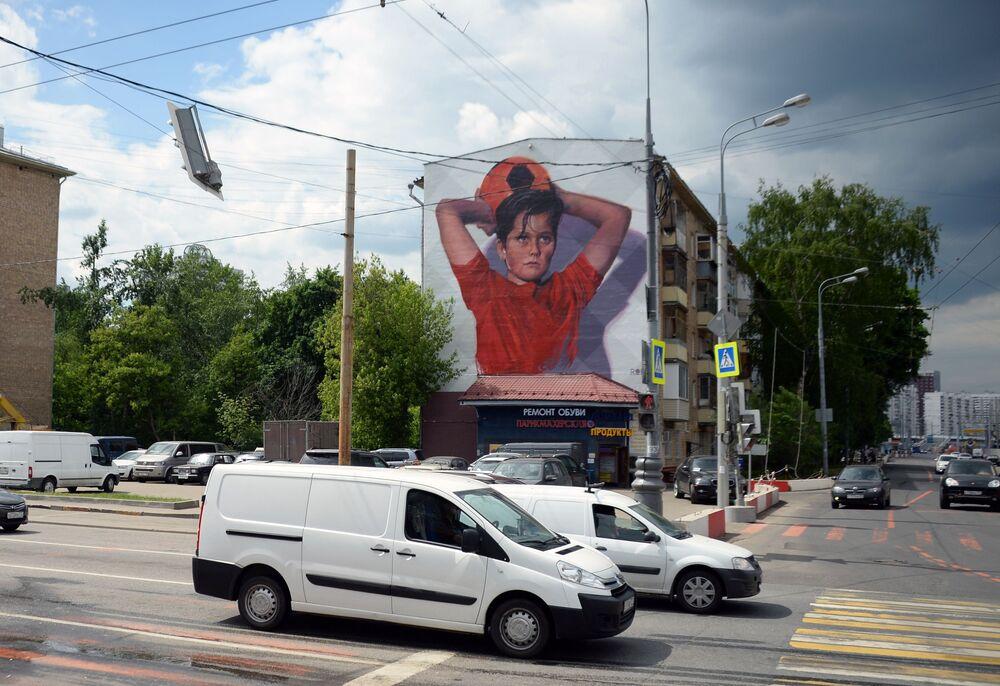 Moskevská graffiti k MS 2018