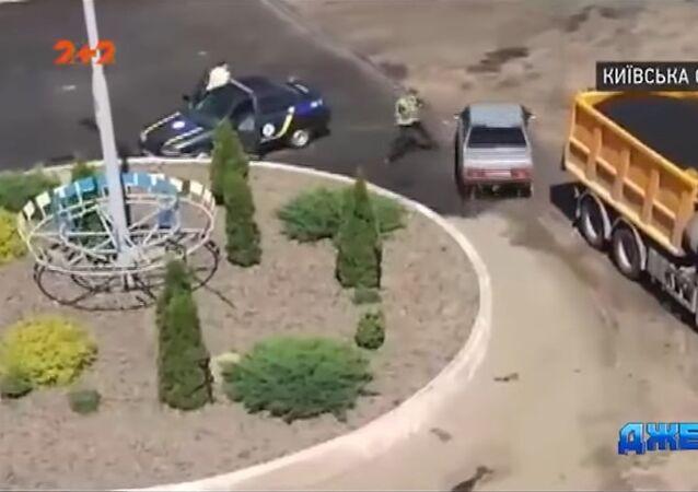 Řidička na Ukrajině