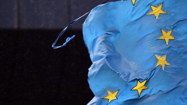 Roztrhaná vlajka EU - Sputnik Česká republika