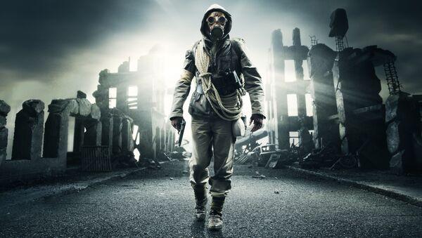 Člověk na pozadí apokalypsy. Illustrační foto - Sputnik Česká republika