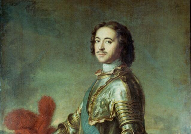 Obraz Jean-Marca Nattiera, Portrét Petra Velikého